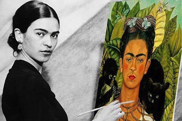 Mejora personal (Frida Kahlo pintándose a sí misma).